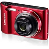 Samsung WB30F 16.2MP Smart WiFi Digital Camera with 10x Optical Zoom and 3.0 LCD Screen (Red) (OLD MODEL)