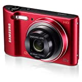 Samsung WB30F 16.2MP Smart WiFi Digital Camera with 10x Optical Zoom and 3.0'' LCD Screen (Red) (OLD MODEL)