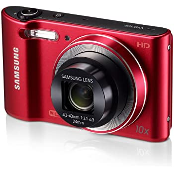 "Samsung WB30F 16.2MP Smart WiFi Digital Camera with 10x Optical Zoom and 3.0"" LCD Screen (Red) (OLD MODEL)"