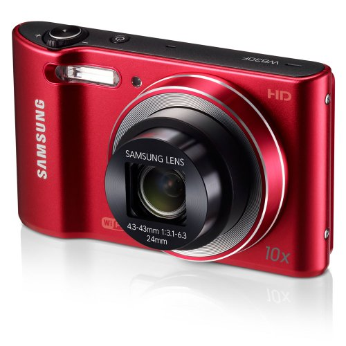 Samsung WB30F 16.2MP Smart WiFi Digital Camera with 10x Optical Zoom and 3.0'' LCD Screen (Red) (OLD MODEL) by Samsung