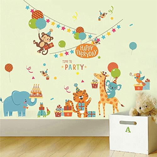 Pegatinas de pared Animales felices Mono Tigre Cartón Fiesta ...