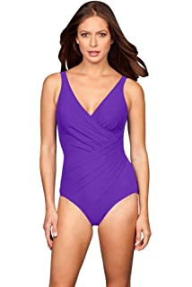79f6e81839 Miraclesuit Women's Horizon One Piece Swimsuit Grape Purple at ...