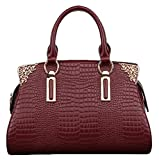 SAIERLONG Women's Cross Body Bag Handbag Tote Cow Leather - CROCO Crocodile OL commuter Dimensional Solid bag