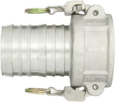Dixon Aluminum 356T6 EZ Boss-Lock Type C Cam and Groove Fitting, Socket x Barbed
