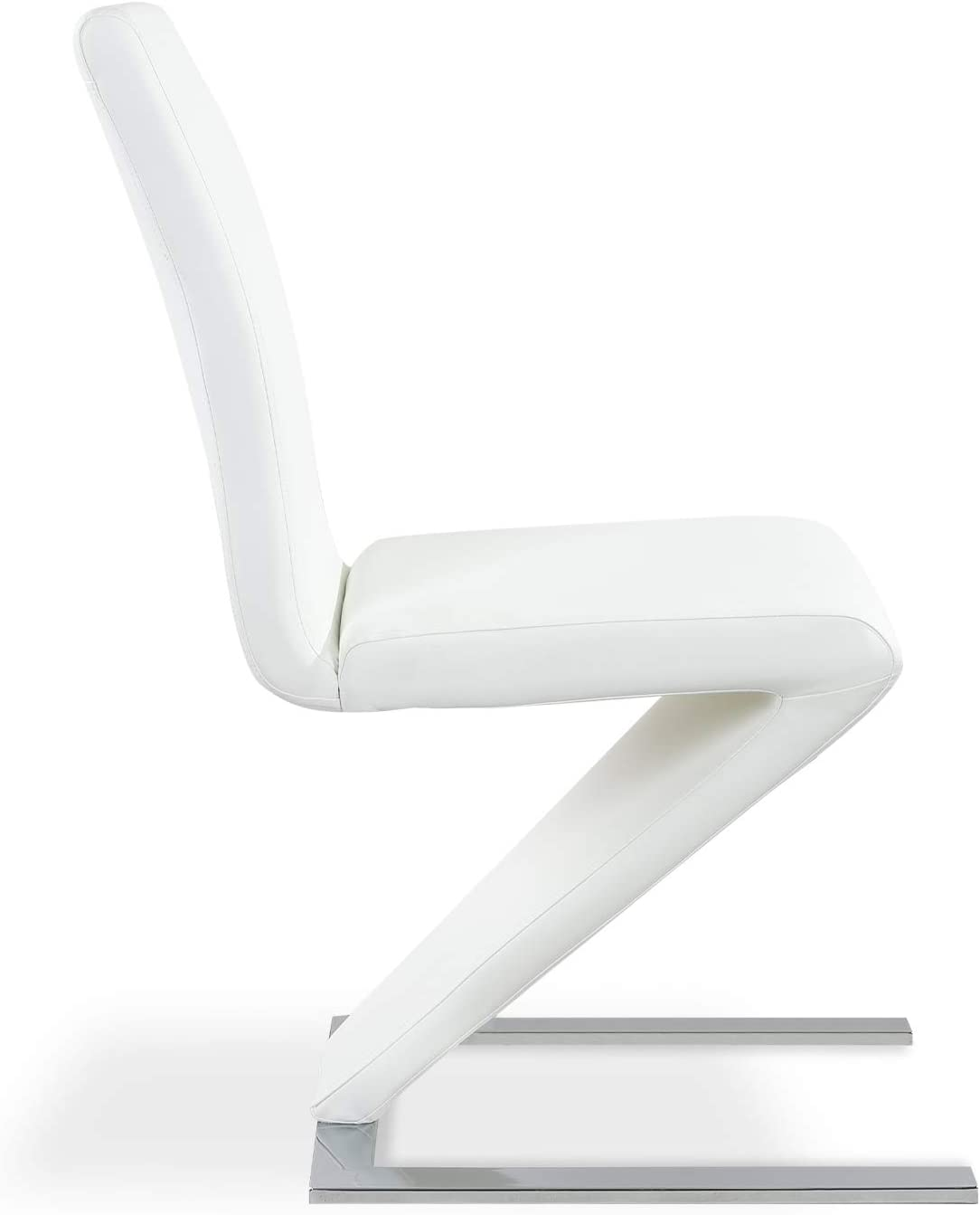INTENSEDECO Lot de 4 chaises Design Delano Blanc