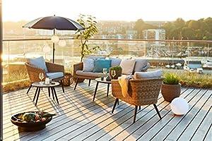 JYSK jardín salón Set vebbestrup Alu/Petan: Amazon.es: Hogar
