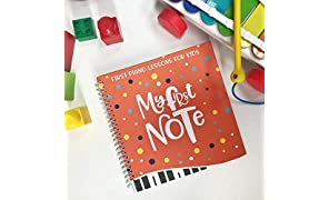 My First Note: Play the Keyboard for Kids, Music Notes With Letters and Five Songs for Children and Toddlers, Music Educational Book for Beginning Musicians!