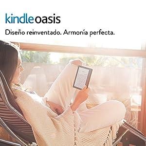"""E-reader Kindle Oasis con funda de carga de cuero negra, pantalla de 6"""" (15,2 cm) de alta resolución (300 ppp) con luz integrada, wifi + 3G gratis"""