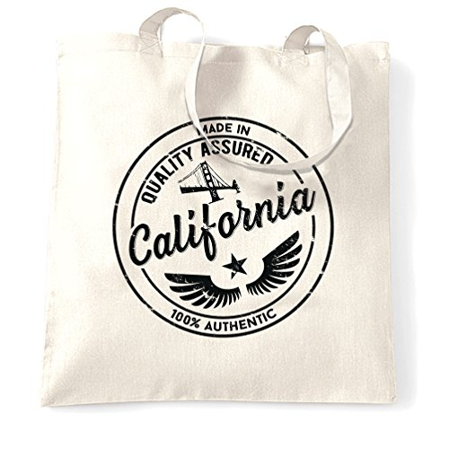 Made in California Redwood Hollywood San Francisco Distressed Shopping Carrier Tote - Francisco San Cheap Shopping