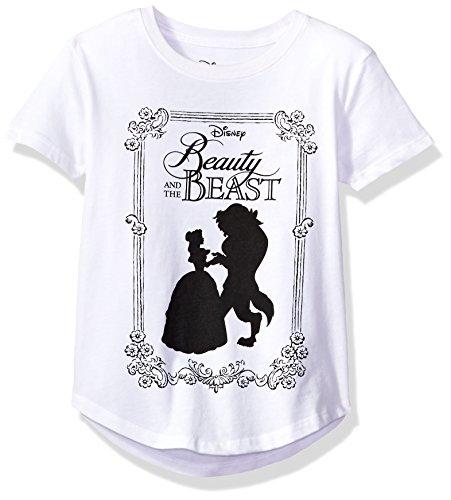 Disney Big Girls' Beast T-Shirt, Beauty White, (Beauty White T-shirt)