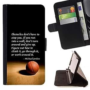 - Queen Pattern FOR HTC One M7 /La identificaci????n del cr????dito ranuras para tarjetas tir????n de la caja Cartera de cuero cubie - basketball Michael Jordan quote sport -