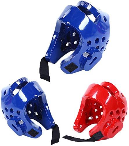 Ganquer Ni/ños Unisex Taekwondo Casco Kick Boxing Casco Sports Accesorio Cara Completa Protector de Cabeza Ajuste Boxeo Tocados