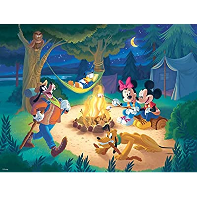 Ceaco Disney Together Time Campfire Jigsaw Puzzle, 400 Pieces: Toys & Games