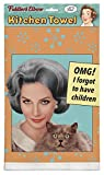 ''OMG! I Forgot To Have Children'' 100% Cotton, Eco-Friendly Dish Towel, Kitchen Towel With Hanging Loop, Kitchen Towel Novelty, Kitchen Towel Funny Quotes