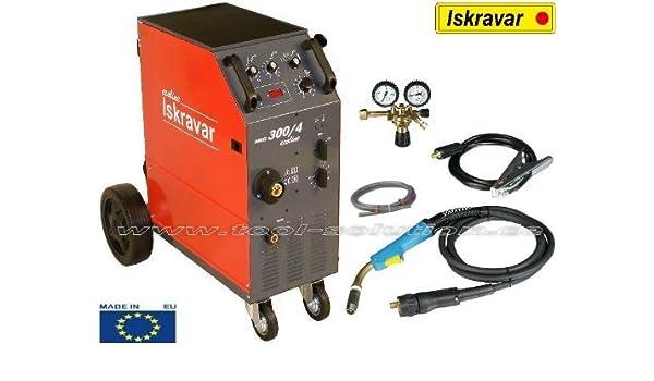 Iskra MIG 300/4 Ecoline de soldadura equipo de soldadura: Amazon.es: Industria, empresas y ciencia