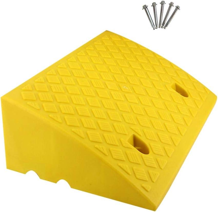 Baiyin Rampa Goma, Vado Rampa Gruesa De Plástico for Dormir Coche Antideslizante Resistencia A La Compresión Puede Usar Agujeros con Dos Juegos Empalme, 3 Colores, 6 Tamaño