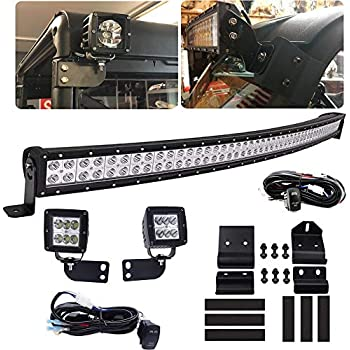 Amazon Com Front Windshield 50 288w Led Curved Light