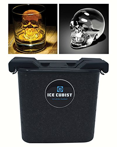 Ice Cubist Crystal Clear Ice Skull Maker and Silicone Mold, Makes 2 Large Ice Skulls]()