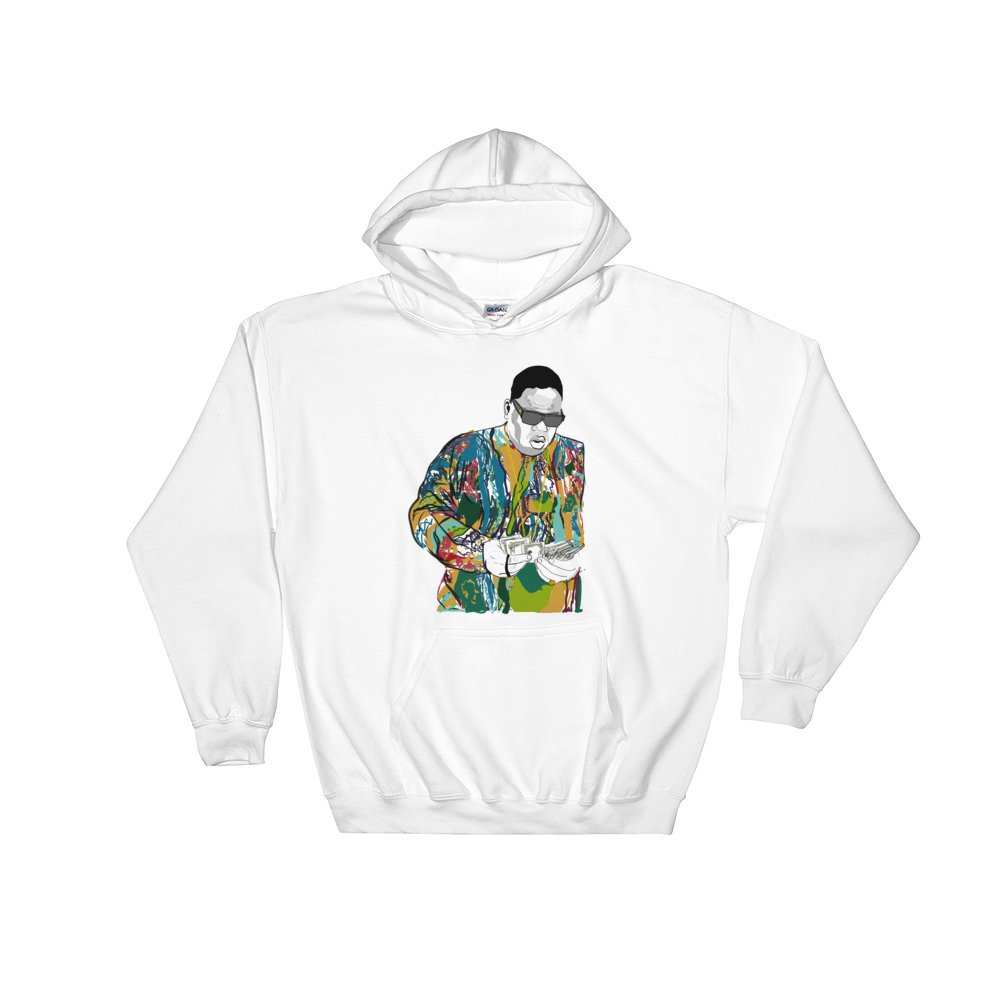 The Notorious B.I.G. Biggie smalls Coogie Sweater White Hoodie Sweater (Unisex)