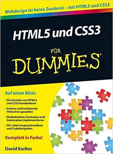 HTML5 und CSS3 For Dummies (Für Dummies)