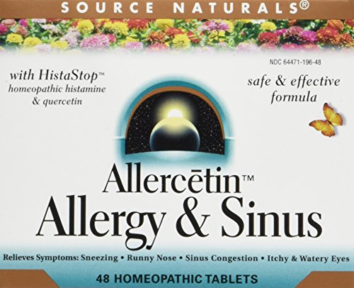 Source Naturals   Allercetin  Allergy And Sinus  48 Homeopathic Tablets