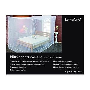 Lumaland moustiquaire filet anti-moustique en forme de caisson 220x200x210 intérieur et extérieur blanc