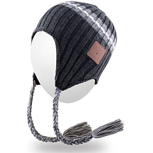 del adulta del auricular Bluetooth Gorro Gorra sombrero Mic de del Mydeal unisex la del auricular gorrita hilos con Bluetooth del tejida alta del Sombrero suave Gorrita cubiertas moda de Gris BB020 caliente oído dY4qFWgw