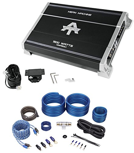 Package: Autotek MMA1500.1 1500 Watt Monoblock Car Audio Amplifier Mean Machine Series With Bass Remote + Rockville RWK41 4 Gauge 2 Channel Complete Wire Kit With RCA Cables (Amp Mean Machine)