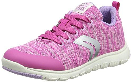 Geox Xunday C, Zapatillas Para Niñas Rosa (Fuchsia/pink)