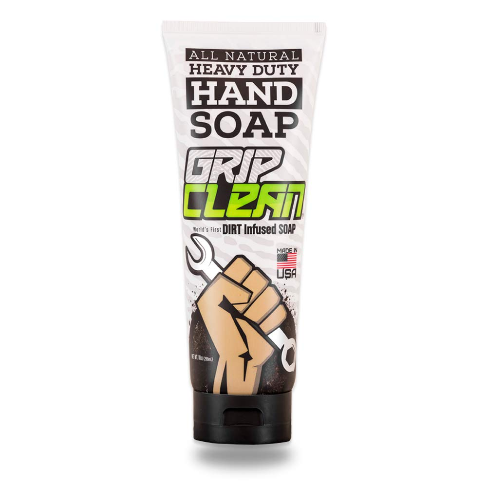 Grip Clean | Heavy Duty Hand Cleaner - Dirt Infused & All Natural Non Drying Soap (10oz)
