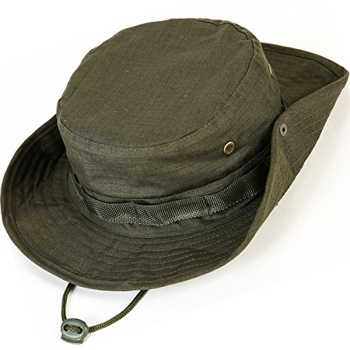[Kolumb Unisex Military Boonie Hat- Premium Soft Cotton & Polyester Fabric, Sturdy Stitching Wide Brimmed Mens & Womens Boonie Hat- Top Camo Bucket Hat In Attractive Colors For Sports Fishing] (Lifeguard Costumes Ideas)