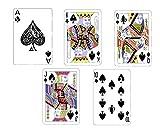 1/2 Sheet - Poker Spades Royal Flush Birthday - D24150 - Edible Cake/Cupcake Party Topper