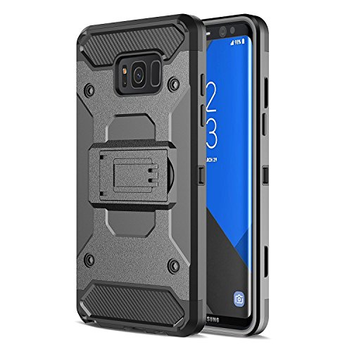 A-Cellplus Armor Rugged Shell Holster Combo Belt Clip Kickstand Cover Case for Samsung Galaxy S8 Plus - Kickstand Combo