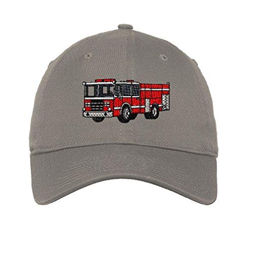 Fire Engine Truck Stile 1 Twill Cotton 6 Panel Low Profile Hat Light Grey - Stilo 1 Light