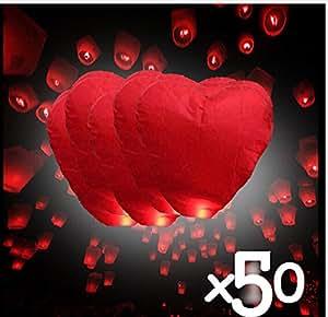 coolshiny® China Linternas volantes Sky vela lámparas fuego para bodas souhaitant partido X 50pcs