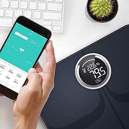 YUNMAI Premium Bascula Baño, Báscula Grasa Corporal con Aplicación Gratuita para iOS y Android, Los Datos se Sincronizan con Apple Health, Fitbit, ...