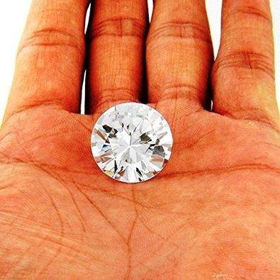(Gemstone Certified Premium Quality White American Diamond Gemstone 6.8 Ct)