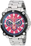 Roberto Bianci Men's RB71010 Casual Enzo Analog Red Dial Watch