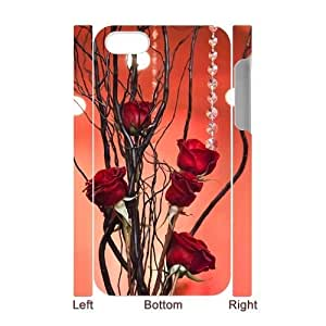red floral CUSTOM 3D For Apple Iphone 5/5S Case Cover LMc-30800 at LaiMc