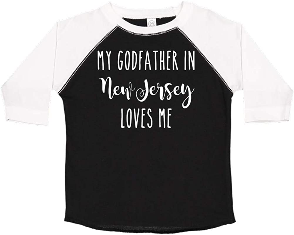 Toddler//Kids Short Sleeve T-Shirt My Godfather in California Loves Me
