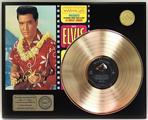 """ELVIS PRESLEY BLUE HAWAII GOLD LP LTD REPRODUCTION SIGNATURE RECORD DISPLAY""""C3"""""""