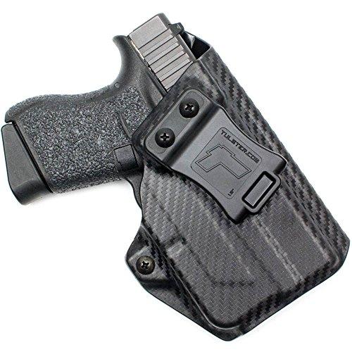 Glock 43 Holster w/TLR-6- Tulster ProfileLB Holster IWB (Black Carbon Fiber - Right Hand)