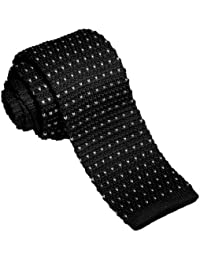 Mens Casual Basic Designed Knit Neck Tie