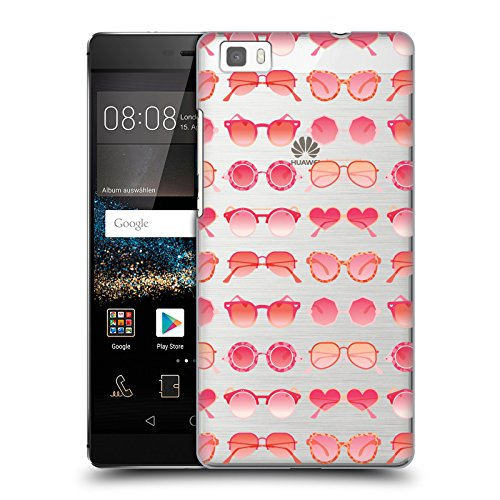 Official Cat Coquillette Pink Sunglasses Pattern 2 Summer Hard Back Case for Huawei P8lite / - Sunglasses Ale