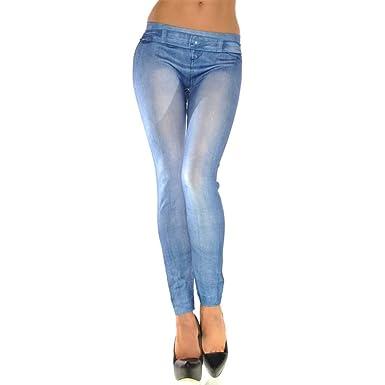 eea90463bd3 friendG Women Jeans Elastic Waist Nine Pants Sexy Soft Tights Skinny Super  Stretchy Denim Pants High Waisted Trousers Leisure Stylish Cotton Pencil  Jeans ...