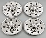 PHOENIX GQST60, Set of 4 - Hubcap for 16'', 8 Lug nut Trailer Wheels, Stainless Steel Wheel Cover, Hub Cap for Trailers