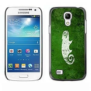 Cubierta de la caja de protección la piel dura para el SAMSUNG GALAXY S4 MINI - Cool Funny Cute Green Nature Chameleon
