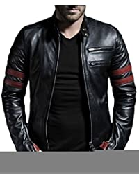 Laverapelle Men's Black Genuine Lambskin Leather Jacket - 1510535