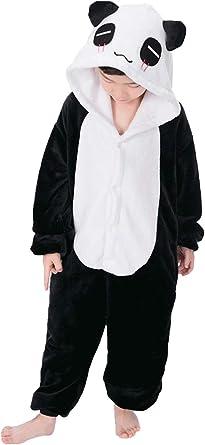 Niños Pijama Kigurumi Animal Cosplay Disfraces Animados Panda Ropa de Dormir para Unisex Altura Entre 9,0 y 1,48 m
