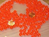New 500 8MM ROUND FLUORESCENT RED FISHING BULK BEADS TACKLE RIG HOOK BEAD FISH RIGS
